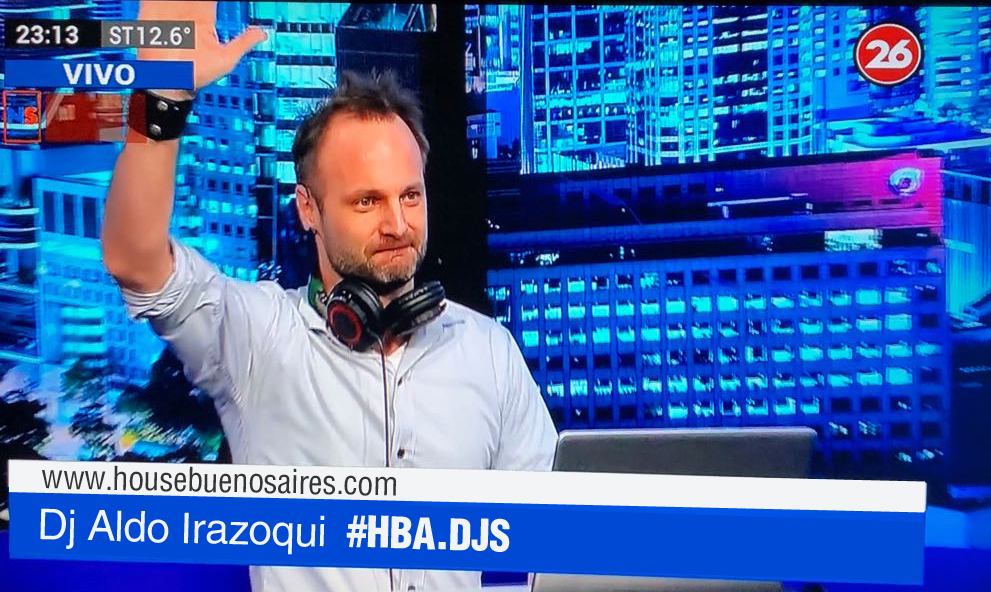 Aldo Irazoqui con HBA Eventos, música en Tv